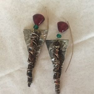 Sterling Wire Artisan Crafted  Earrings